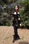 Feminine leather armor