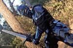 Blue black armor