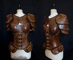 Light brown feminine armor