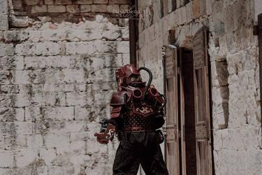 Steampunk golem armor -4