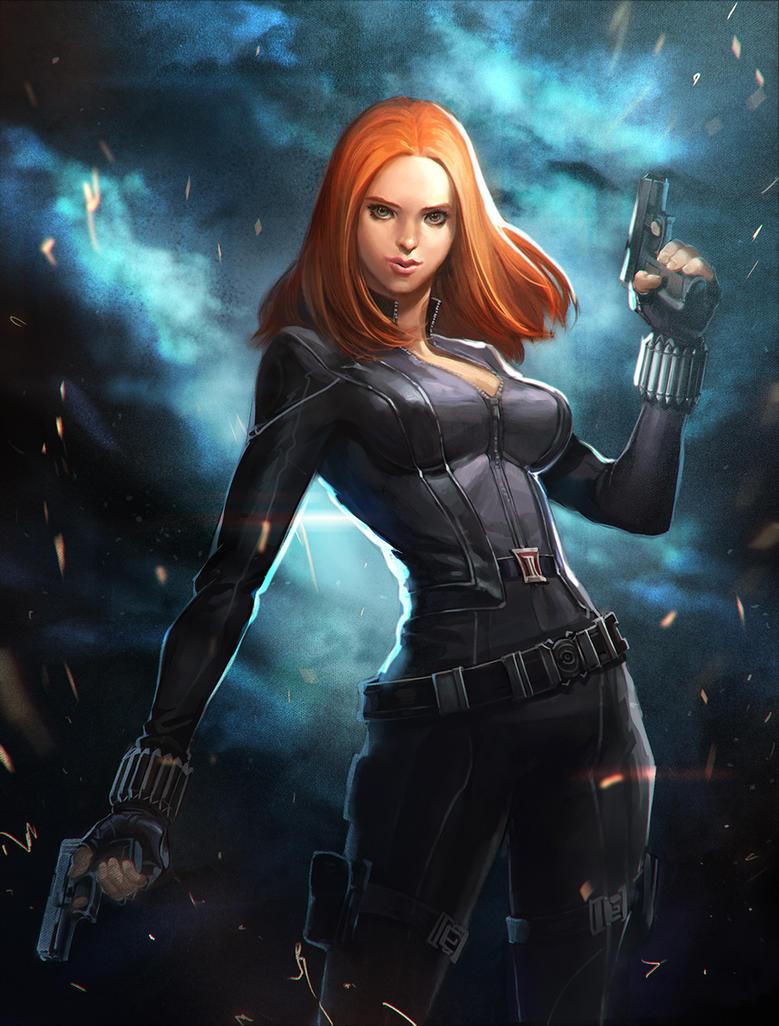 Black widow- The Winter Soldier by Gopye