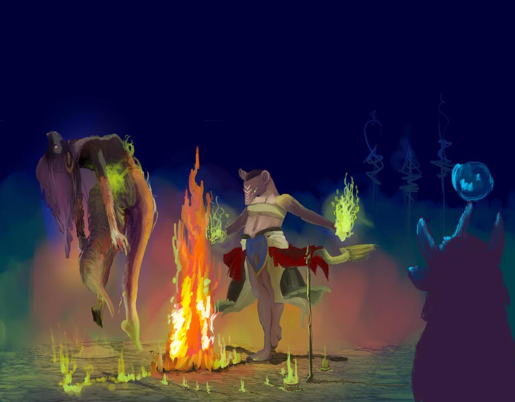 shaman lady 39 s lair wip by lucynickbakura on deviantart