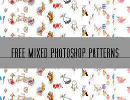 MIXED WATERCOLOR SEAMLESS PS PATTERNS by toxiclolley88