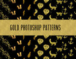 GOLD PHOTOSHOP PATTERNS by toxiclolley88