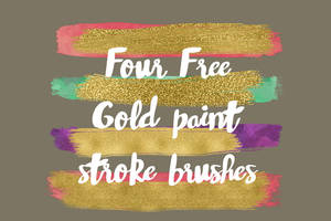 GOLD PAINT BRUSH STROKES by toxiclolley88