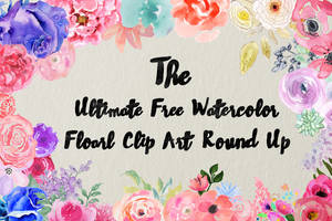 Ultimate Free Watercolor Floral Clip Art Round Up by toxiclolley88