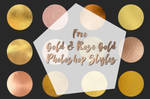 Gold and Rose Gold Photoshop Styles