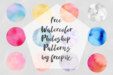 Free Watercolor Photoshop Patterns