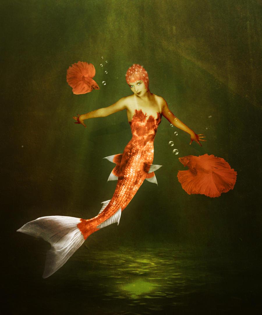 Koi mermaid by jinxmim on deviantart for Koi fish tail