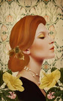 Art Nouveau Portrait by JinxMim