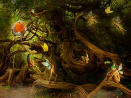 Tree Fairies by JinxMim