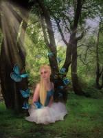 Blue Butterflies by JinxMim