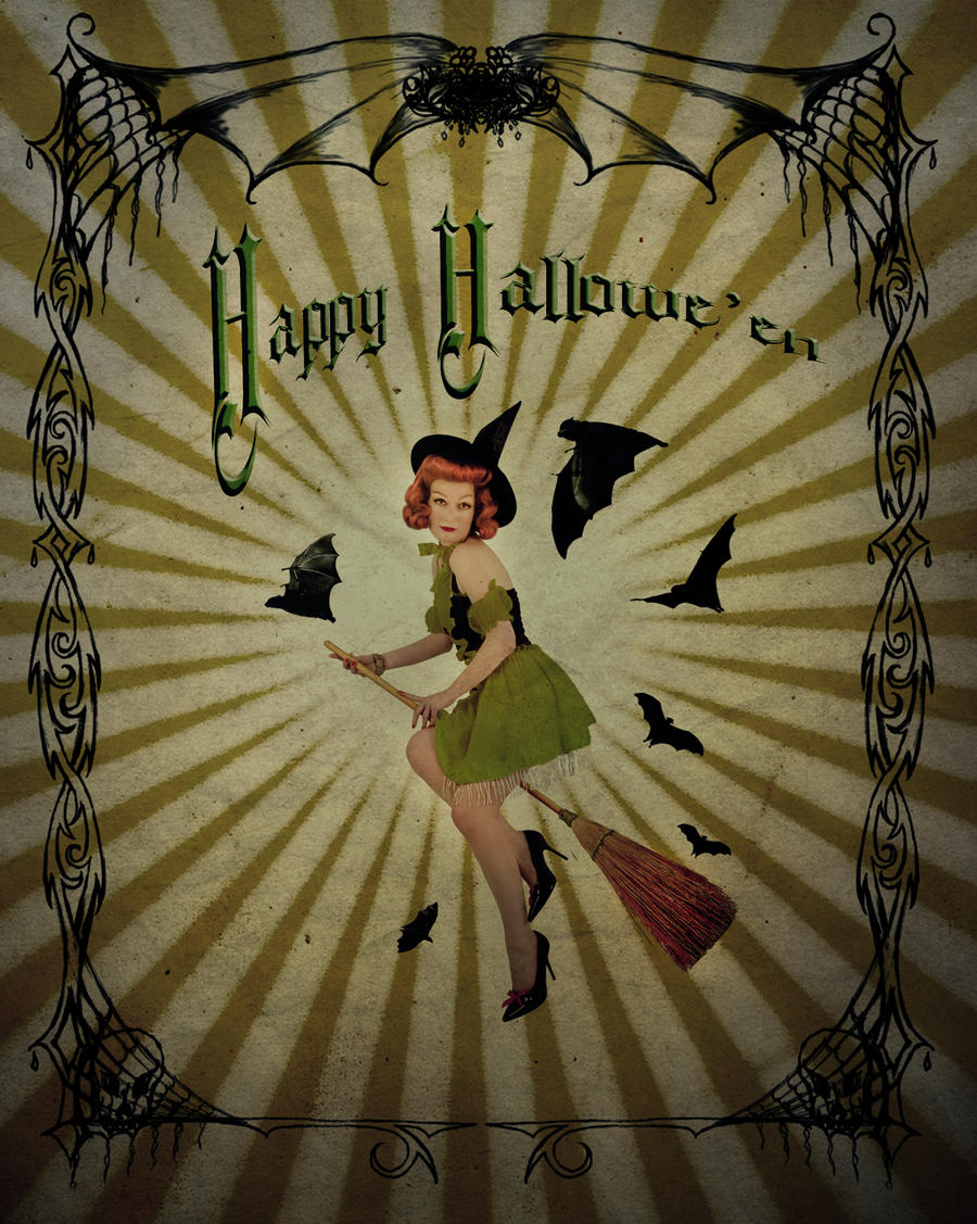 vintage halloween witch by jinxmim on deviantart