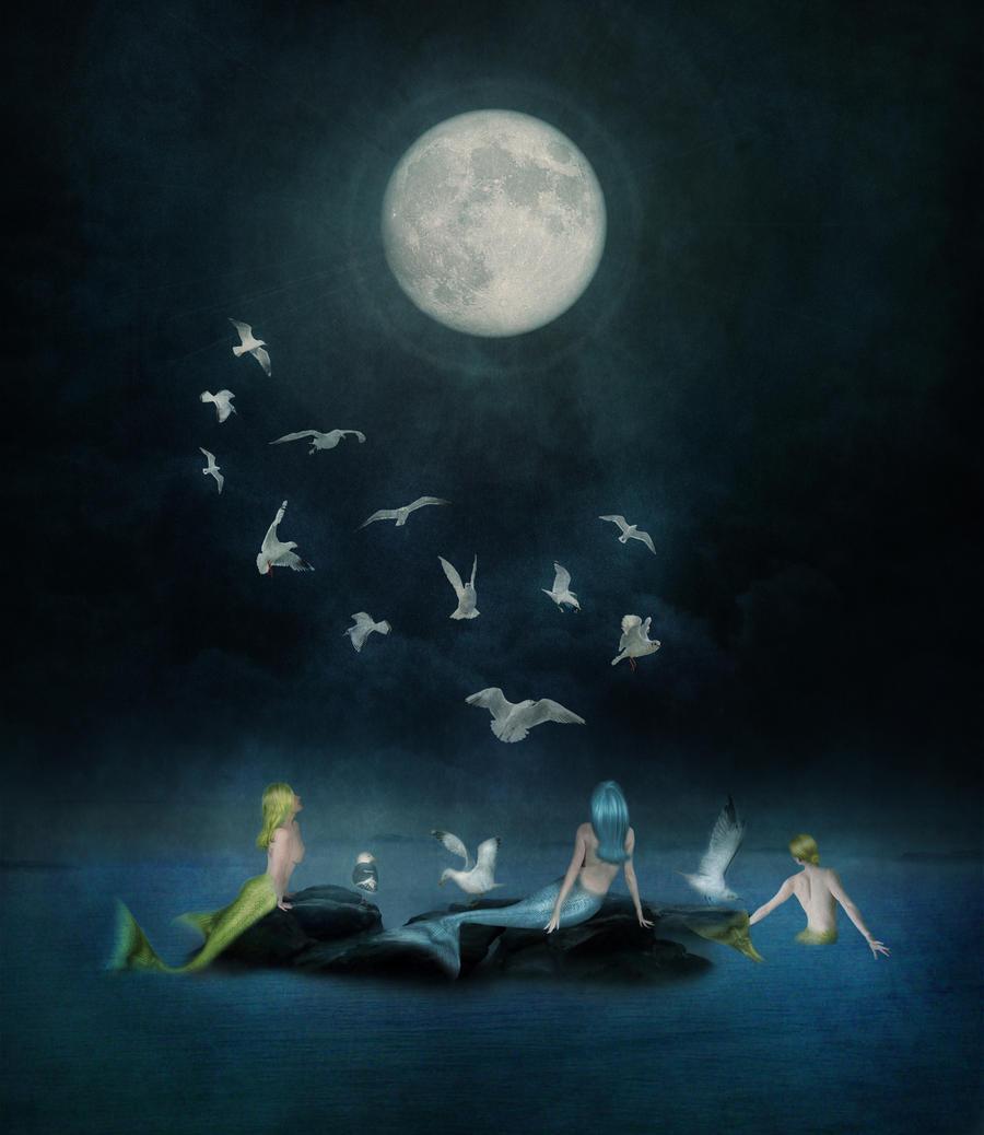 Mermaid Moon by JinxMim