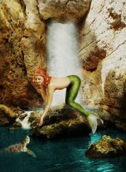 Mermaid and Turtle by JinxMim