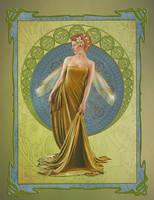 Art Nouveau Fae by JinxMim