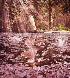 Sakura Mermaid by JinxMim