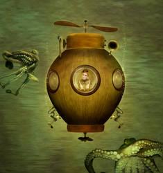 Wooden Submarine by JinxMim