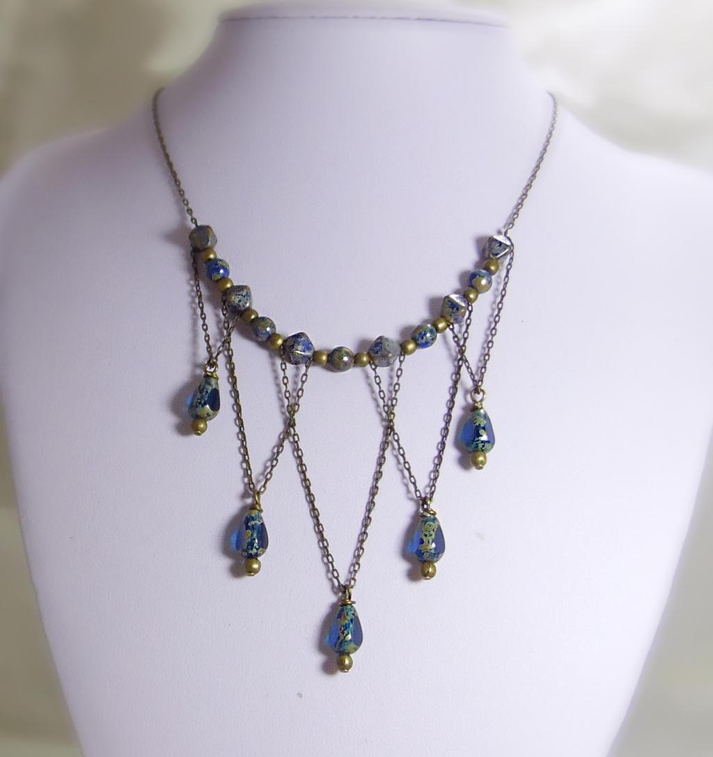 Victorian Style Statement Necklace by JinxMim