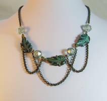 Art Nouveau Leaf Necklace