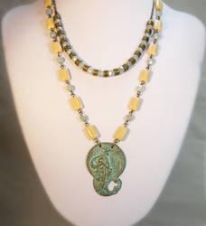 Alphonse Mucha Pendant Necklace