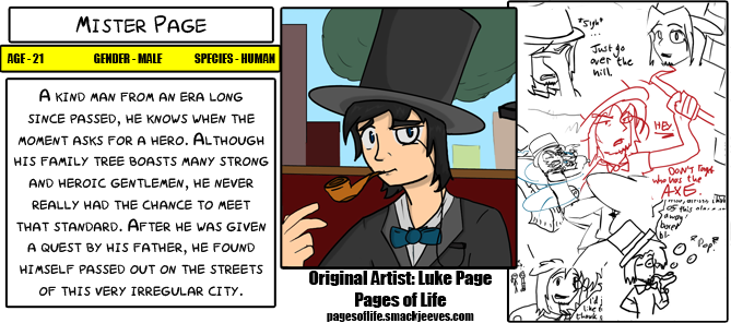 Character Bios - Mister Page by Mr-Page