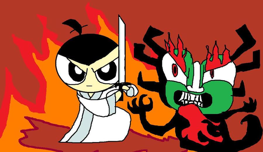 Samurai jack powerpuff by meimeix