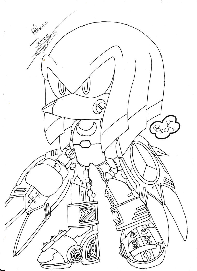 Metal  Knuckles Androide 0.02 by rickhedgehog