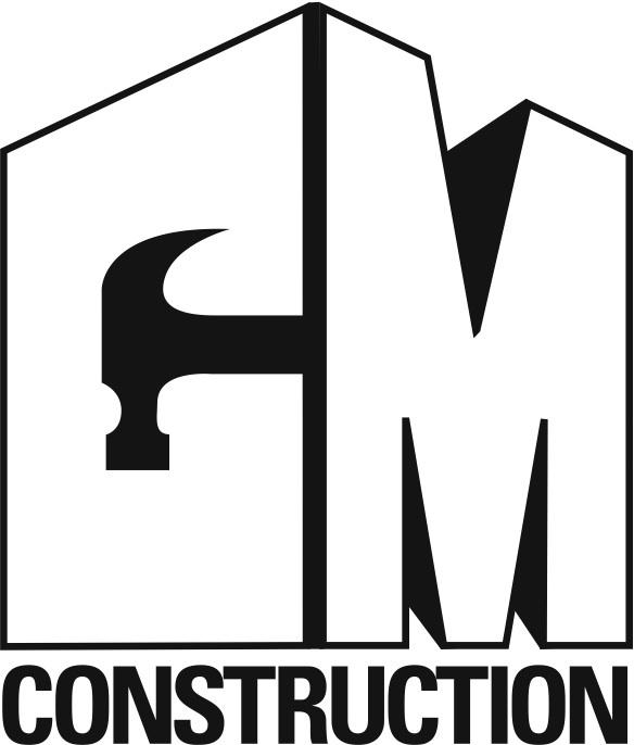 c m construction logo by thirty3grafix