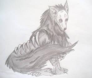 Death Skull Wolf by starbuxx