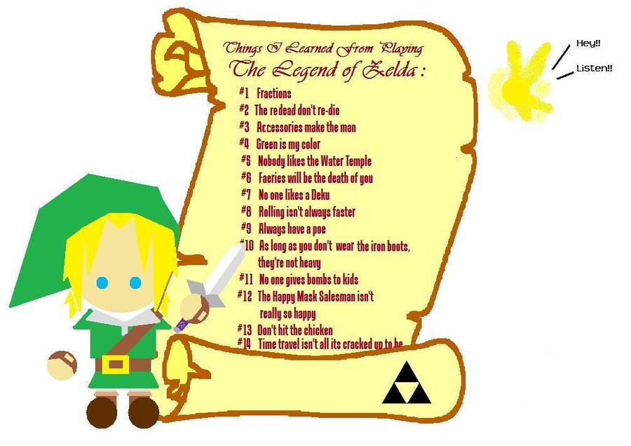 What I Learned From Zelda: 1 by starbuxx