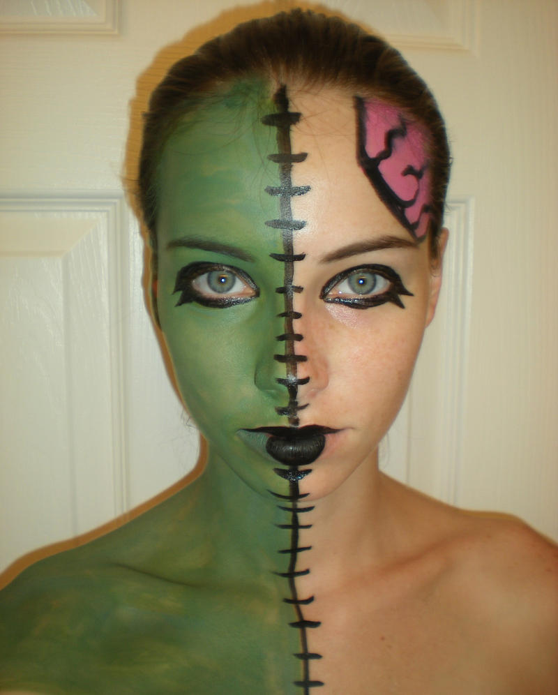 Easy zombie makeup with face paint mugeek vidalondon for How to apply face paint