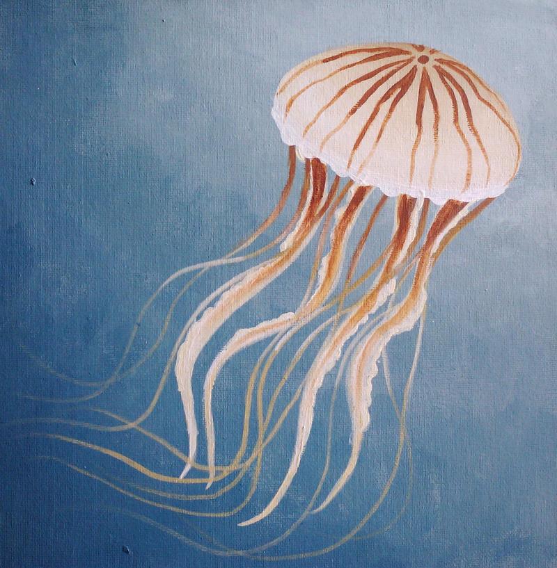 Swimming Jellyfish by starbuxx