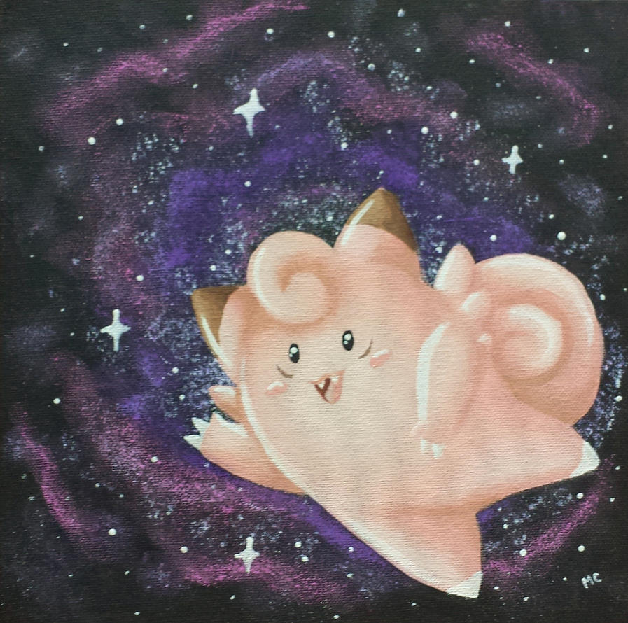 Space Clefairy by starbuxx