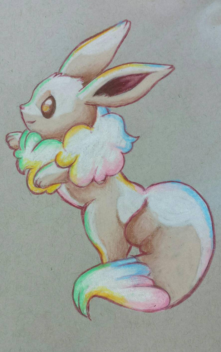 Fluffy Eevee by starbuxx
