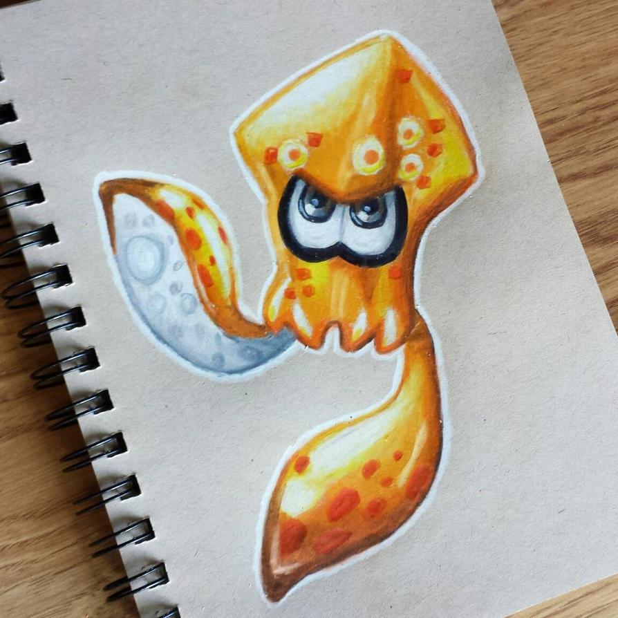 Splatoon Squid by starbuxx
