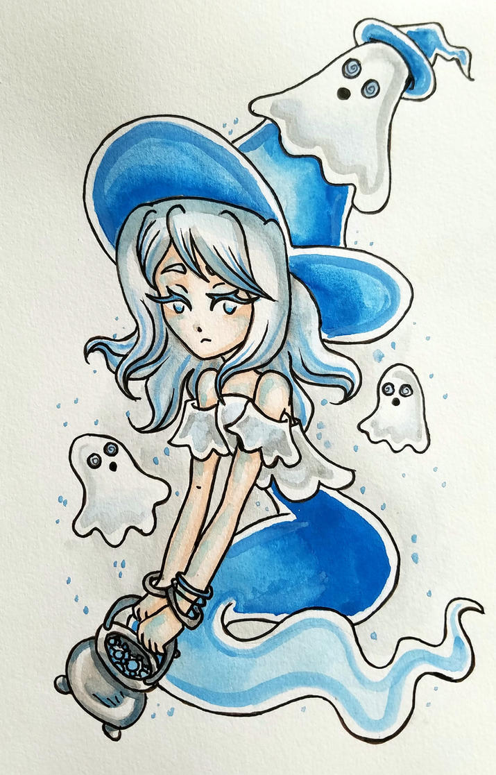Ghost Witch by starbuxx
