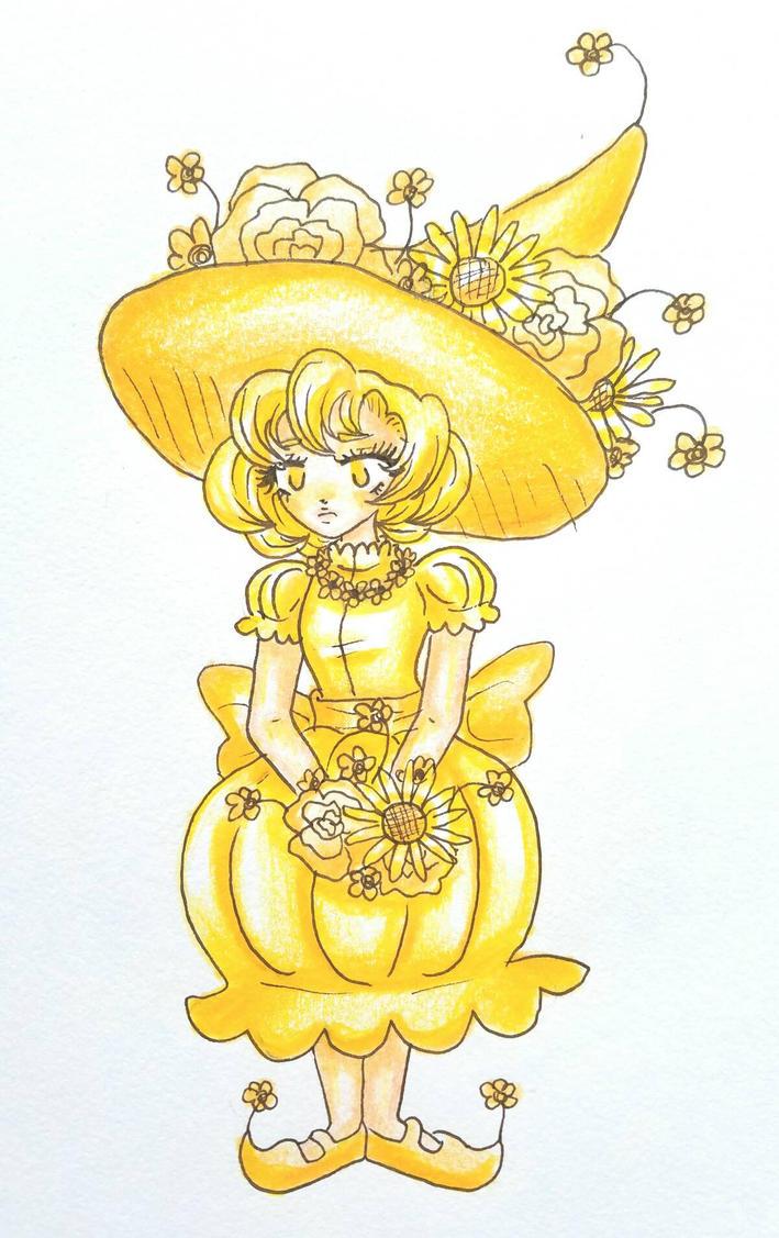 Yellow Flower Witch by starbuxx