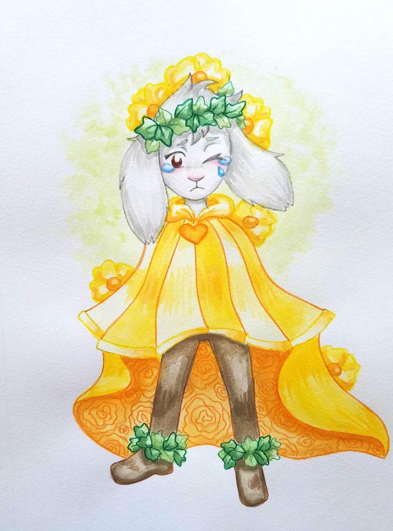 Flower Prince Asriel by starbuxx