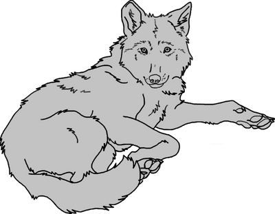 Free Wolf Lineart by toast4nat