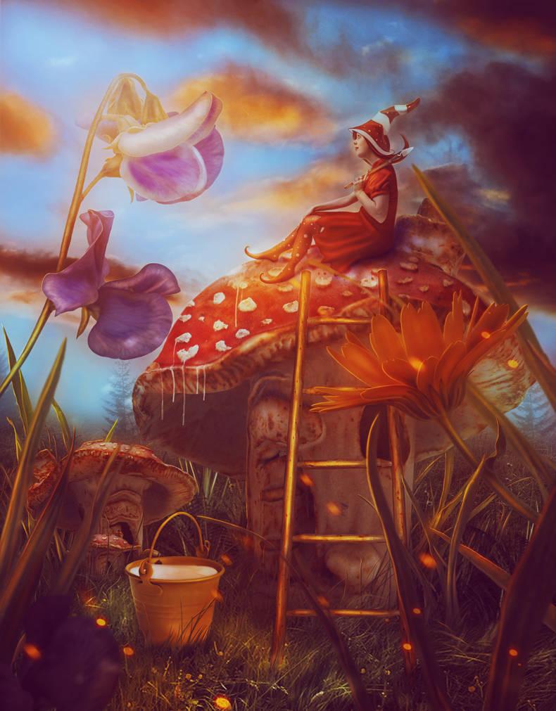 Amanita Fairy by LanaTustich