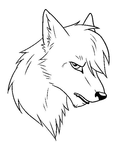 Depressed wolf drawing - photo#32