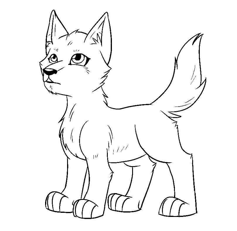 wolf pup cartoon coloring pages | Fox And Crow Cartoon Sketch Coloring Page
