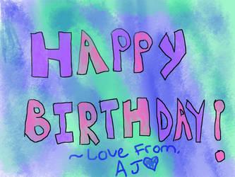 Happy birthday! by Catz95