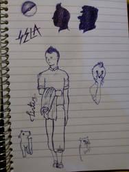 random sketching: Tintin by S-e-l-a