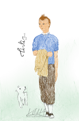 sketchy Tintin by S-e-l-a