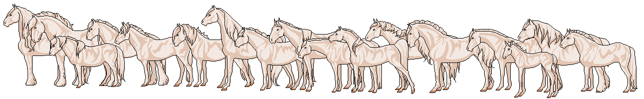 Mini Pixel Horse Base - 16 Breeds and foal