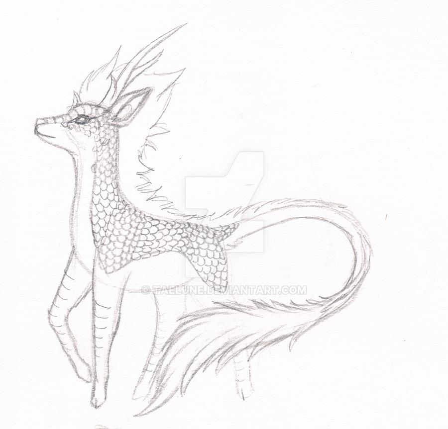 Kirin sketch by Taelune