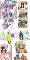 PKMN doodles: Brycen, Beartic, and pple
