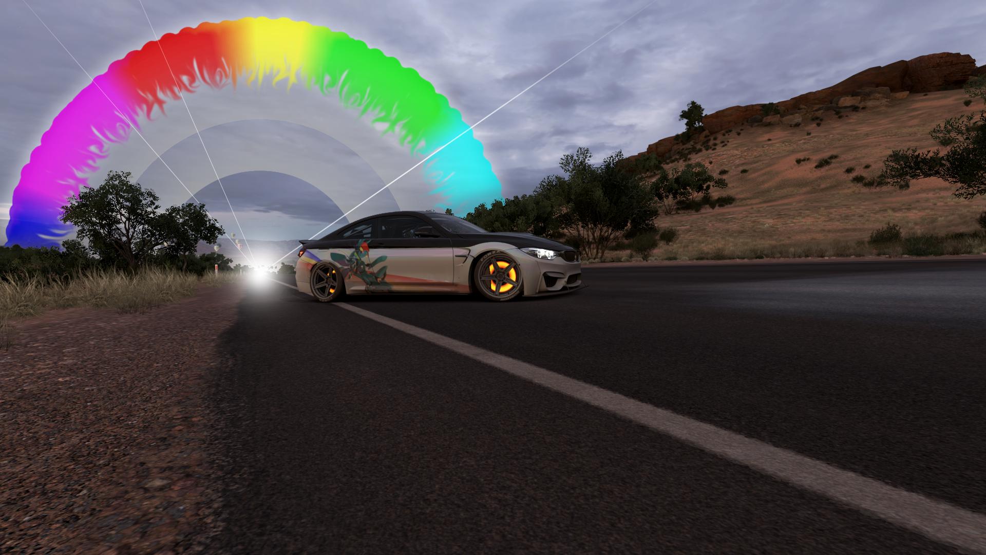 Forza Horizon 3 BMW M4 Coupe Rainboom Wallpaper by benny4683